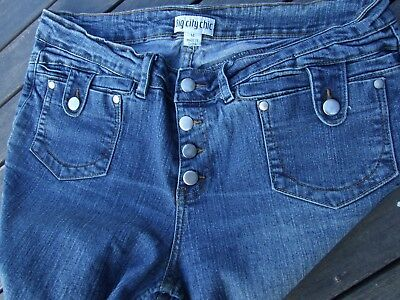 Big City Chic Jeans Size 14 Button Fly Sexy Button Down Front Pockets