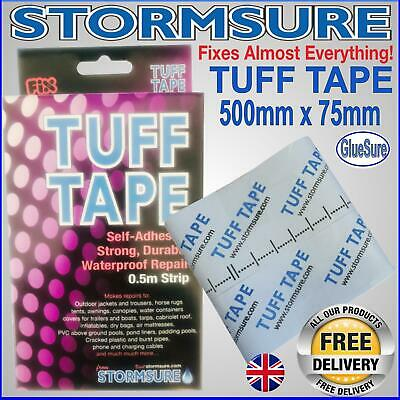 Stormsure Tuff Tape Self Adhesive Tapes 500mmX75mm Repair Mend Rips Holes Tears