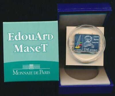 France 2008 5 Euro 15.0g .900 Silver Brilliant UNC Manet