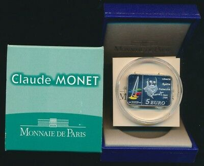 France 2009 5 Euro 15.0g .900 Silver Brilliant UNC Monet
