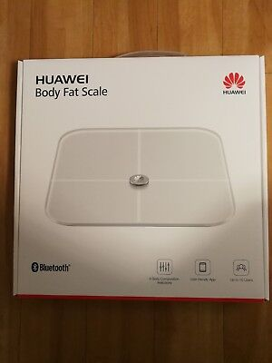 Huawei AH100, Multifunktions Körperfettwaage Body Fat Scale Weiß Waage