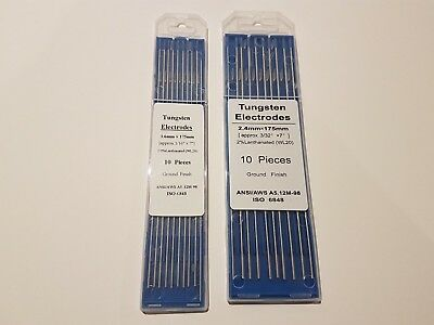 Tig Tungsten 2% Lanthanated Electrode 2.4mm and 1.6mm x 175mm