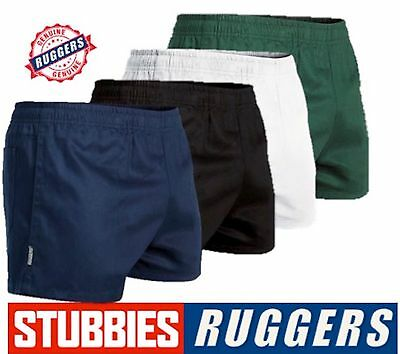 Genuine Stubbies Ruggers Elastic Waist Drill Mens Work Shorts Se2060