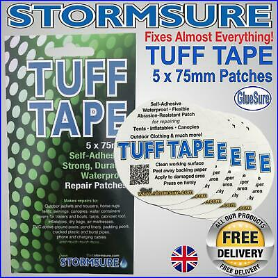 Stormsure Tuff Tape Self Adhesive Patch 5 PackX75mm Repair Mend Rips Holes Tears