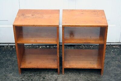 Mid Century George Vi Solid Oak Air Ministry Filing Shelves