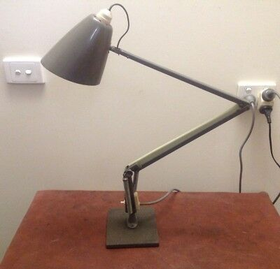 Vintage Retro Planet Desk Lamp Studio Model K Color White Grey Black Base