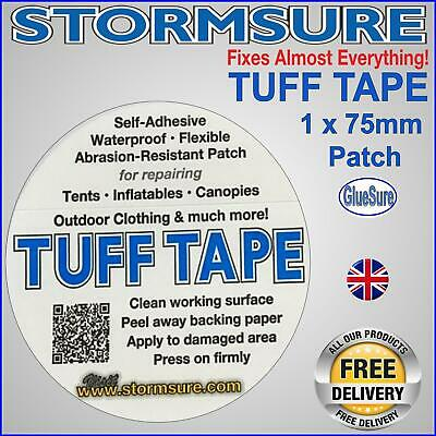 1X Tuff Tape Self Adhesive Patch Repair Rips Holes Tears Tent Bivvy by Stormsure