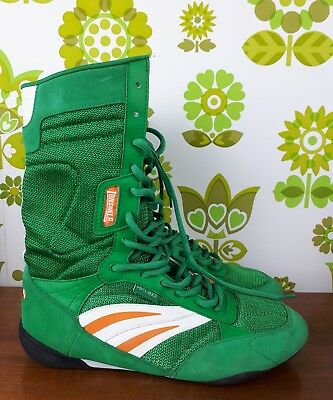 Green Suede PRO - BXR Boxing High Boots Uk Size 7