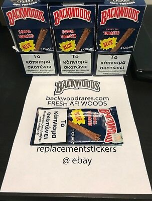 Backwoods Vanilla (blue) Single Pack 5 gars (banana rum grape) FRESH AF