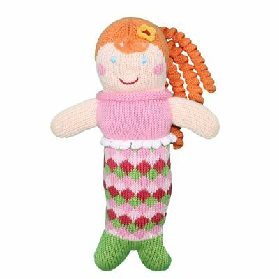 Zubels 100% Hand-Knit Pearly Penny the Mermaid Plush Doll Toy, 24-Inch,