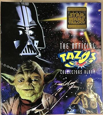 Star Wars Tazos with Folder 62/80 Near Complete Excellent Condition