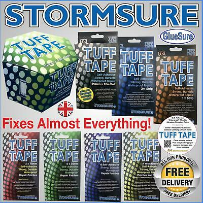 Stormsure Tuff Tape & Patches Self Adhesive Strong Repair Mend Rips Holes Tears