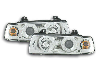 Scheinwerfer Angel Eyes BMW 3er E36 Limo/Touring Bj. 92-98 chrom