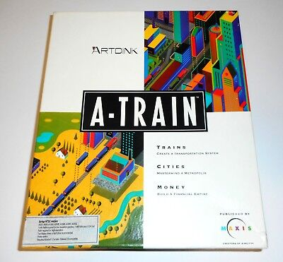 A-Train v1.0 (Broderbund / Maxis) (Amiga) (1992) [ECS/OCS] RARE NTSC - Tested OK