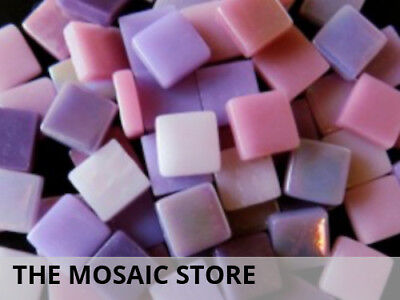 Purple & Pink Mixed 12mm Glass Tiles | Mosaic Tiles Supplies Art Craft
