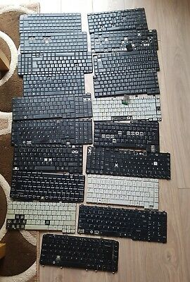 *** Job Lot Of  19 Laptop Keyboards For Spares ***