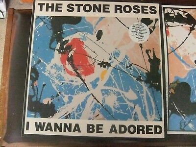 stone roses I wanna be adored - 12 inch with print