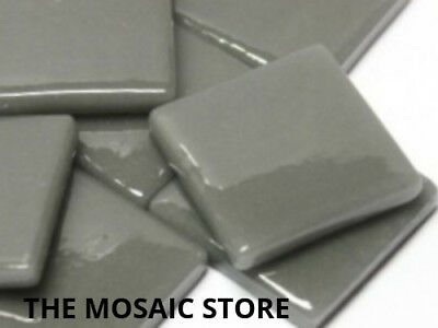 Deep Grey Gloss Glass Tiles 2.5cm - Mosaic Tiles Supplies Art Craft