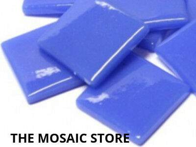 True Blue Gloss Glass Tiles 2.5cm - Mosaic Tiles Supplies Art Craft