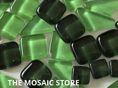Mixed Dark Green Crystal Glass Mosaic Tiles - Art & Craft Supplies