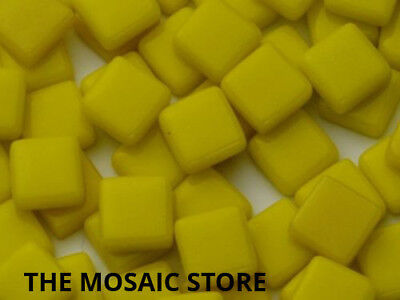 Yellow Gloss Glass Tiles 1cm - Mosaic Tiles Art & Craft Supplies