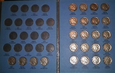Complete Buffalo Nickel Set 1927-1938-D (24 Coins)