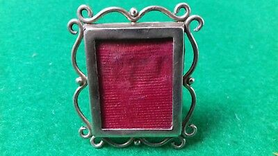 Solid Silver Tiny Victorian Art Nouveau Novelty Photo Frame.
