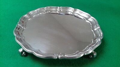 Solid Silver Card Tray 344 Grams 1934 Sheffield Jay Richard Attenborough