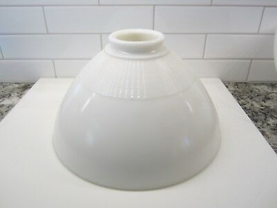 "Vintage Milk Glass Torchiere Diffuser  10"" Lamp Shade 2 1/4"" Opening"