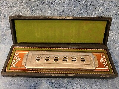 Vintage Rare Alpina Koch Harmonica & Deluxe Hard Carrying Case - Keys of C and G
