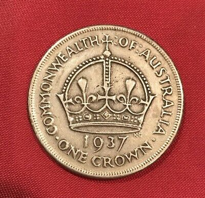 Australia, A Circulated Silver One Crown Better Grade Coin Dated 1937