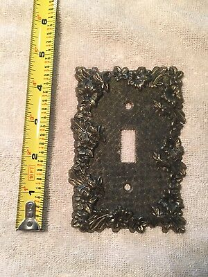 Vintage Brass Metal Ornate Toggle Light Switch Outlet Cover