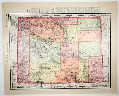 1909 Antique Wyoming Map - Vintage WY Map - Old US State Art - History Art Print