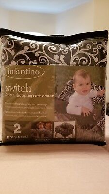 INFANTINO 2 in 1 Shopping Cart and Highchair Cover, Day Dream Black & White