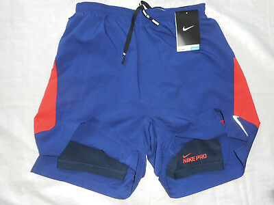 Nike 2-in-1 Shorts 7 Zoll Pursuit (683288-455) Gr. S  NEU