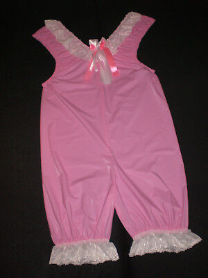 Soft Pvc Babyfolie Bloomer Home Body Diaper Suit Romper   M - L