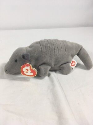 AUTHENTIC Ty TANK 7 LINE ARMADILLO 3rd 2nd Gen No Shell BEANIE BABY 1995 RARE