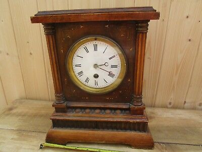 Antique  Mantle Clock, Not Working For Spares Or Restoration.