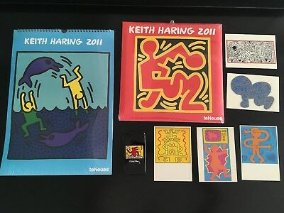 KEITH HARING - 2 CALENDRIERS 2011 - 1 Coque iPhone -5 CARTES  NEUF SOUS BLISTER