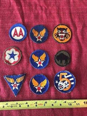 Lot Vintage Military Army Patches AA Red White Blue Star Wings Tank Buster NICE
