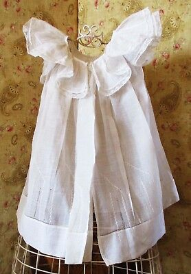 Antique Lawn lace Ruffled Party Pinafore Little Girl