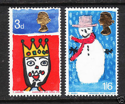 SG713p-714p 1966 XMAS PHOSPHOR Unmounted Mint