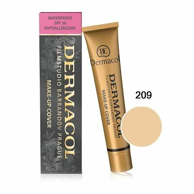Dermacol 209 High Cover Make-up Foundation Waterproof SPF-30 Authentic GENUINE