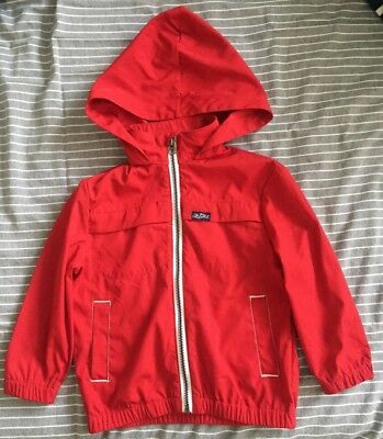 Ralph Lauren Boys Red Lightweight Summer Jacket With Hood Age 2 Years