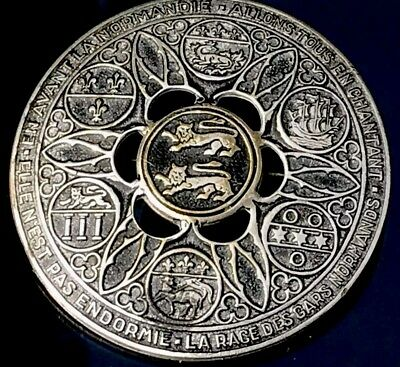 Beautiful Large Antique Solid Silver fascinating French Brooch FreeUKPostage