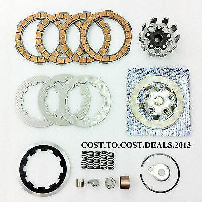 Lambretta Clutch Kit 4 Plates- Housing,Flange,Plates,Springs,Corks,etc NEW