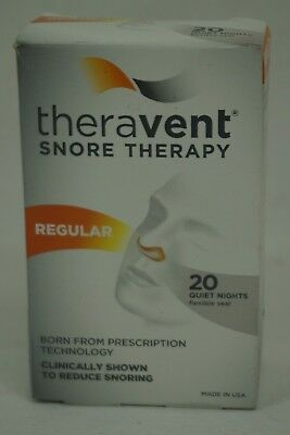NEW Theravent Snore Therapy Strips *Regular* 20 Strips - Expires 03/2020 - NIB