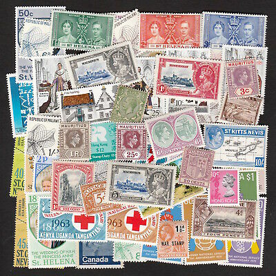 British Colonies & Commonwealth Collection Of Mint Stamps Including Sets (50)