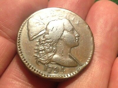 1794 Liberty Cap Large Cent    BEAUTIFUL COIN!!   CLEAR LETTERED EDGE!  L@@K!