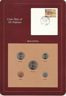 Coins of All Nations Set - Malaysia - 5 Coins - 1981-83